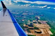 风光摄影:飞机舷窗的景象