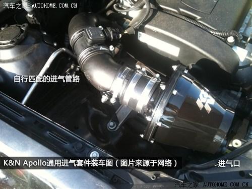 发动机的车型,进气管路可进行调整,以方便将进气口安装在不同的位置.