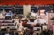城市风光:逃生梯上的夜东京