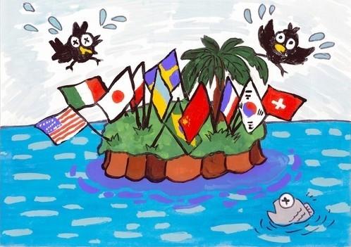 日主题举行竞赛鱼鹰讽刺小镇及领土漫画获大#耽美漫画图片
