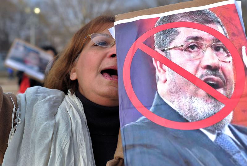 美国 要求/埃及抗议者在美国白宫前要求总统穆尔西下台(1/5)