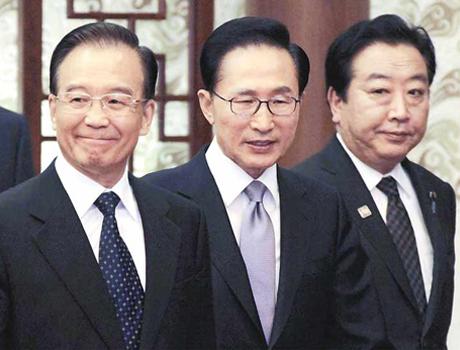 """中日韩贸易谈判下的""""三国表情"""""""