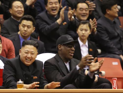 """罗德曼赴朝鲜""""篮球外交"""""""