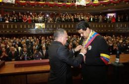 马杜罗宣誓就职委内瑞拉代总统
