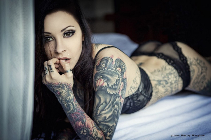 姑娘们的美丽纹身