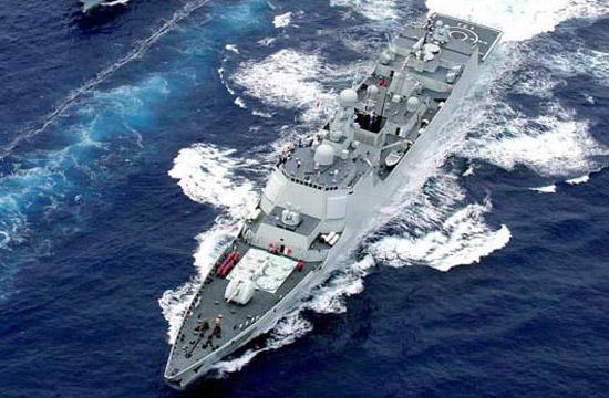 中国海军的新型舰艇颇具现代感气息