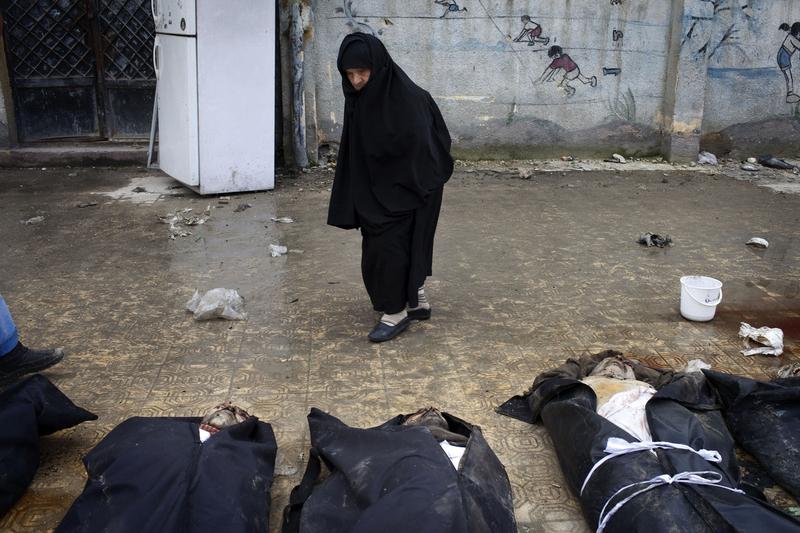 叙利亚死人图片_叙利亚阿勒颇地区发现30多具平民尸体_国际新闻_环球网