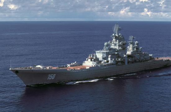 """俄军目前防空最强的""""基洛夫""""级巡洋舰"""
