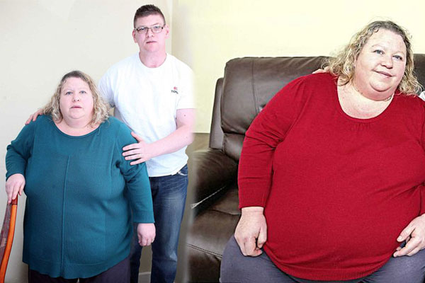 英健身教练妻子体重近200公斤