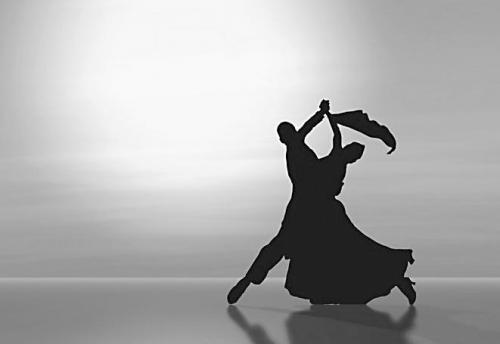 跳舞比赛简笔画