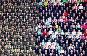 华赛作品:朝鲜庆祝金日成诞辰100周年