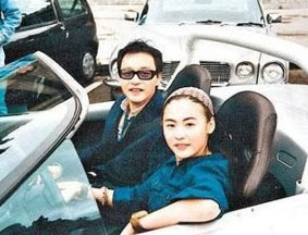 张柏芝与张国荣昔日合影曝光