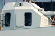 我军76mm舰炮舱门开启