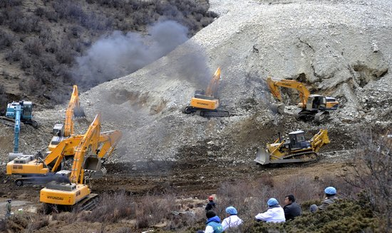 中国黄金集团甲玛矿区发生山体塌方 83人被埋