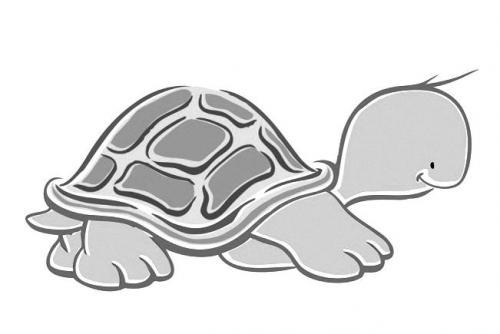海龟简笔画步骤