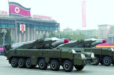 朝鲜的中远程导弹给韩国很大威胁