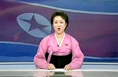 朝鲜著名播音员李春姬曾宣告朝鲜核试验声明书