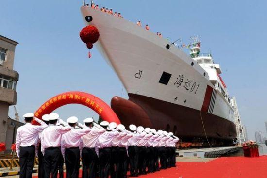 日方关注中国最大海巡船试航