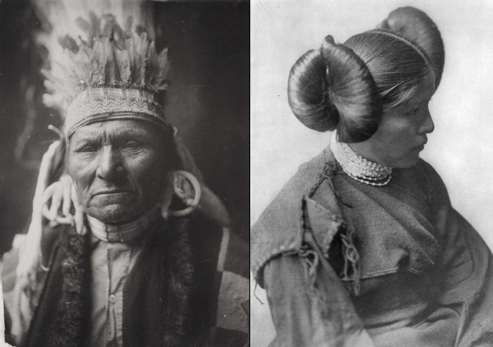 女孩 印第安人/一个世纪前的北美印第安人肖像(2/19)