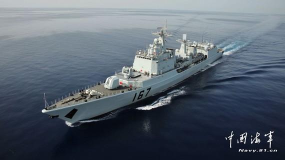 今日钓鱼岛军事新闻_中国海军南海舰队编队今日在钓鱼岛附近巡航_军事_环球网