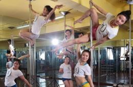 安徽钢管舞队拍宣传片