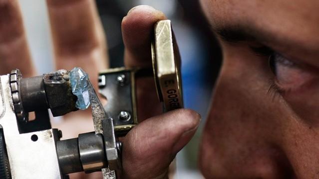 南非发现25.5克拉罕见天蓝色钻石