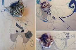 百变猫咪秀引模仿热潮图片