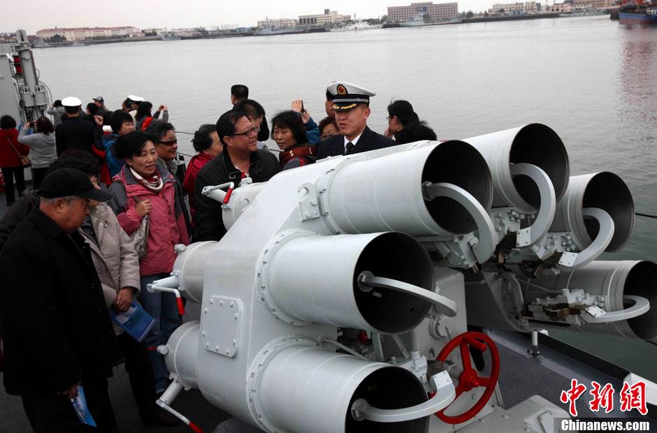 中国海军明星舰建军节开放参观