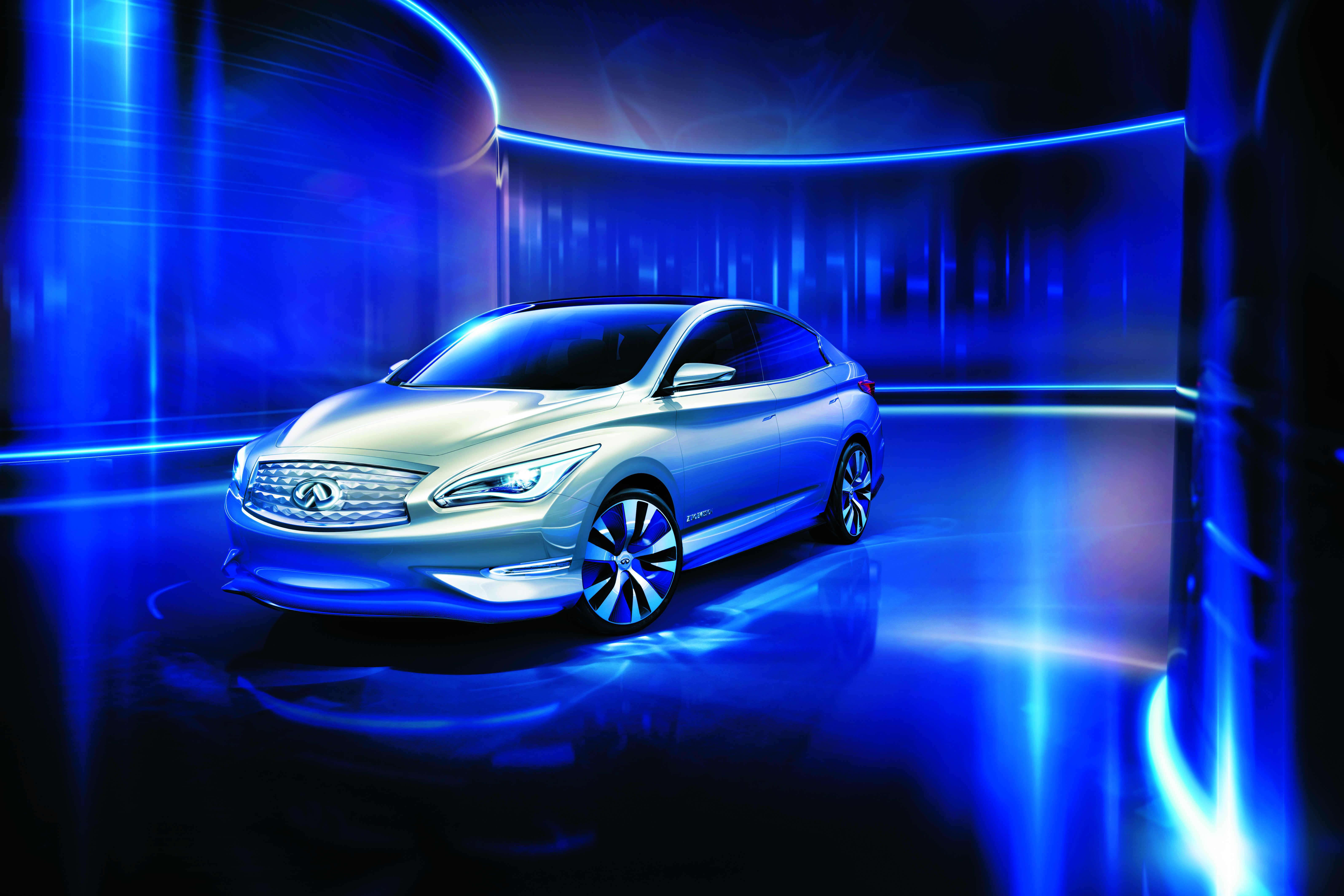 三厢轿车风格,将英菲尼迪代表性的设计线条与电动车空气动力高清图片