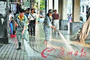 广州环卫工月收入增至3033元 5月起实施(图)