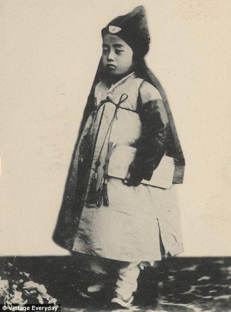 小孩 朝鲜王朝/19世纪末20世纪初朝鲜老照片曝光(4/22)...