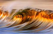 摄影师实拍炫美金色海浪