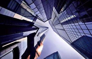 城市风光:香港的几何天空