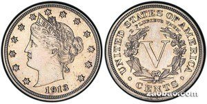 一枚100年前5美分硬币 拍出300万美元高价