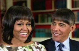 奥巴马展示卖萌搞怪照