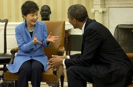 奥巴马会晤朴槿惠
