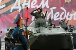 俄罗斯圣彼得堡阅兵庆祝卫国战争胜利68周年