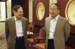 """杨振宁与莫言在北大展开""""科学与文化的对话"""""""