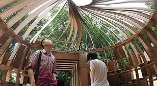 重庆大学生纸板造屋显创意