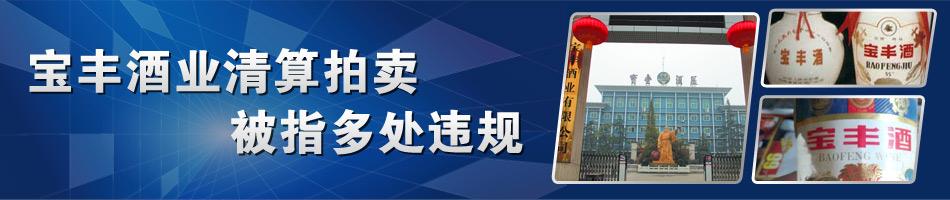 宝丰酒业4.5亿摘牌 重组被指多处违规