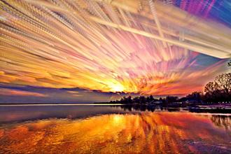 天空 风光摄影/风光摄影:油画棒的彩绘天空