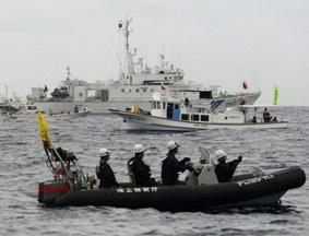 日称中国海监渔政轮班执法钓鱼岛