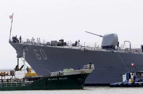 美宙斯盾舰敏感时期访问菲律宾