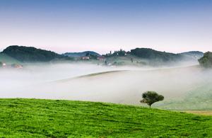 风光摄影:雾升