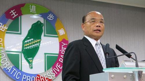 """苏贞昌声称民进党坚决反对""""一中架构""""主张"""