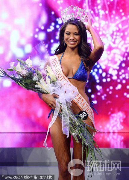 当地时间6月27日,2013国际泳装选美大赛(Hooters International 图片