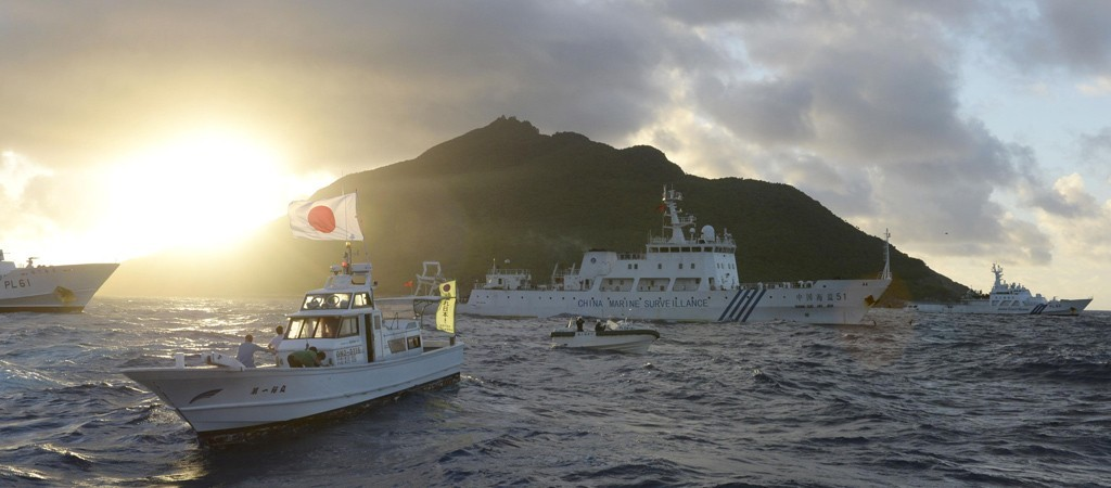 """台""""外交部""""严正关切日议员擅闯钓鱼岛海域"""
