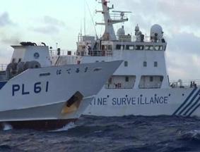 中国海监船驱离日本右翼分子