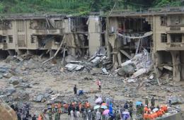 中国多地暴雨引发洪涝灾害
