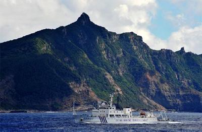 中国海监用巡航钓鱼岛作为行动回应安倍